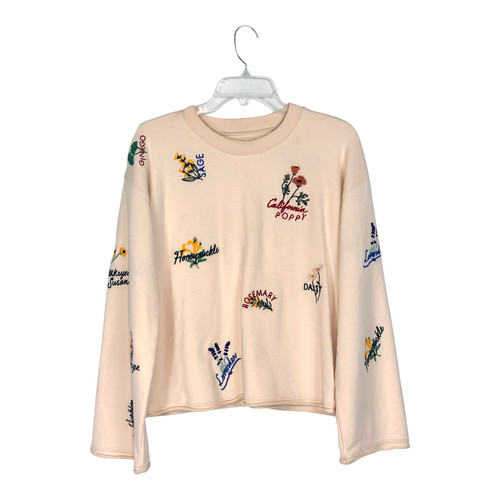 Madewell Embroidered Flower Sweatshirt- Front