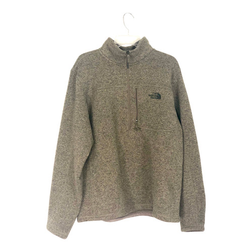 The North Face Melange Knit Fleece Half-Zip- Front