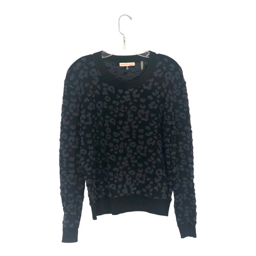 Rebecca Taylor Textured Cheetah Sweatshirt- Front