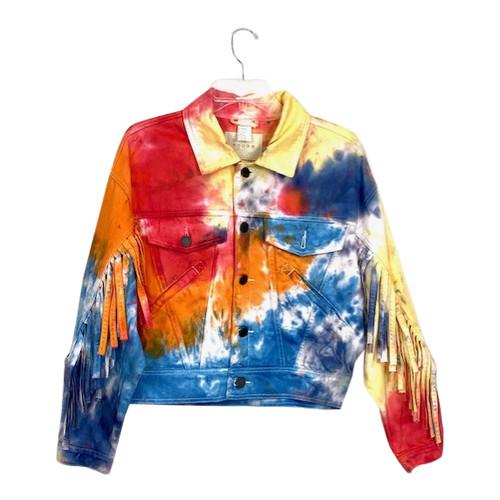 [BLANKNYC] Tie Dye Denim Jacket-Front