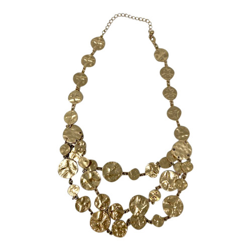 Flattened Disc Layered Necklace-Top