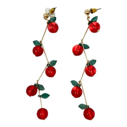 Linked Cherries Drop Earrings-Thumbnail
