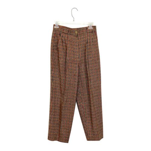 Pleated Herringbone Trousers- Front