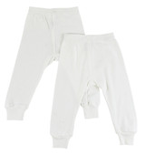 White Long Pants - 2 Pack
