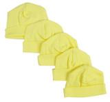 Yellow Baby Cap (pack Of 5)