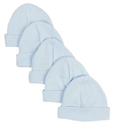 Blue Baby Cap (pack Of 5)