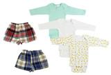 Infant Boys Long Sleeve Onezies And Boxer Shorts - BLTCS_0221L