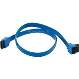Monoprice, Inc. 18inch Sata 6gbps Cable W/locking Latch (90 Degree To 180 Degree) - Blue