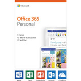 Microsoft Office 365 Personal 32/64-bit - Subscription License - 1 PC/Mac, 1 Person - 1 Year