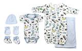Newborn Baby Boys 6 Pc  Baby Shower Gift Set