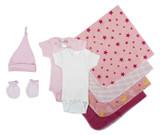 Essential Newborn Baby Girl 8 Piece  Set