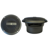 """Poly-Planar 3"""" Round Flush-Mount Compnent Speakers - (Pair) Gray"""
