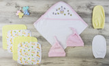 Hooded Towel, Bath Mittens, Hats And Wash Coths
