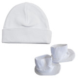 Cap & Bootie Set - White