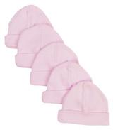 Pink Baby Cap (pack Of 5)