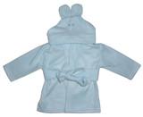 Fleece Robe With Hoodie Blue