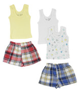 Girls Tank Tops And Boxer Shorts - BLTCS_0217L