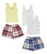 Girls Tank Tops And Boxer Shorts - BLTCS_0217NB
