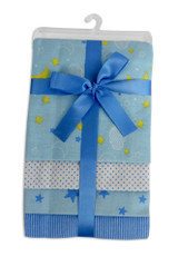 Blue Four Pack Receiving Blanket