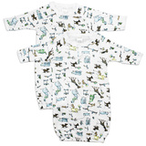 Boys Print Infant Gowns - 2 Pack