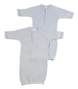 Preemie Solid Blue Gown - 2 Pack