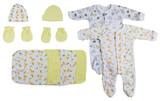 Sleep-n-plays, Caps, Mittens And Washcloths - 9 Pc Set