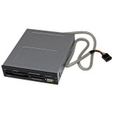 StarTech.com 3.5in Front Bay 22-in-1 USB 2.0 Internal Multi Media Memory Card Reader - Black