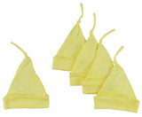 Yellow Knotted Baby Cap (pack Of 5)