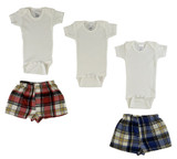 Infant Onezies And Boxer Shorts - BLTCS_0206L