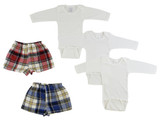 Infant Long Sleeve Onezies And Boxer Shorts - BLTCS_0212M