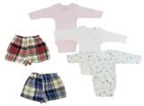 Infant Girls Long Sleeve Onezies And Boxer Shorts - BLTCS_0222NB