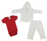 Infant Sweatshirt, Onezie And Pants - 3 Pc Set - BLTCS_0227M