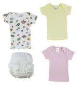 White Girl's T-shirtsand Fancy Pants Underwear - BLTCS_0233S