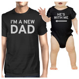 I'm A New Dad Black Dad and Baby Bodysuit Funny Gifts For Baby Shower