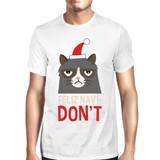 Feliz Navidon't White Men's T-shirt Christmas Gift For Cat Lovers