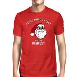 Realistic Santa Red Men's T-shirt Christmas Gift Funny Shirt