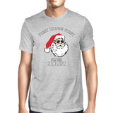 Realistic Santa Grey Men's T-shirt Christmas Gift Funny Shirt