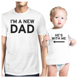 I'm A New Dad White Dad and Baby Shirt Unique Gifts For New Dad