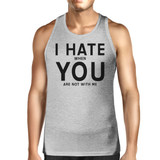 I Hate You Mens Cotton Tank Top Funny Graphic Tanks Cute Typography