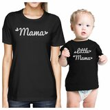 Mama & Little Mama Black Matching outfits For Mom and Baby Girl