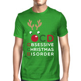 OCD Obsessive Christmas Disorder Green Unisex Tee Cute Holiday Gift