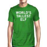 World's Tallest Elf Green Unisex T-shirt Cute Christmas Graphic Tee