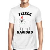 Fleece Navidad White Men's Shirt Funny Christmas Gift Graphic Tee