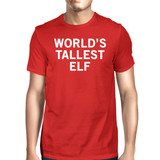 World's Tallest Elf Red Men's T-shirt Funny Holiday Gifts Ideas