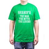 Grandpa Man Myth Legend Green T-shirts