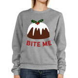 Bite Me Sweatshirt Funny Holiday Gifts Pullover Fleece Sweater
