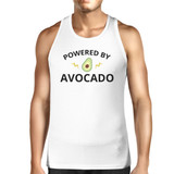 Powered By Avocado Men's White Tank Top Gift For For Avocado Lovers