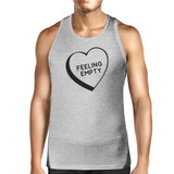 Feeling Empty Heart Men's Grey Unique Design Tank Top Gifts For Him