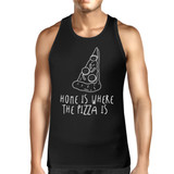 Home Where Pizza Is Mens Sleeveless Black Tank Top For Pizza Lovers