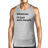 Date Myself Men's Gray Cotton Tanks Casual Summer Sleeveless Shirt